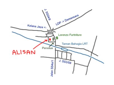 Map to Alisan at SS4 PJ