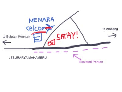 Map to Ampang Satey