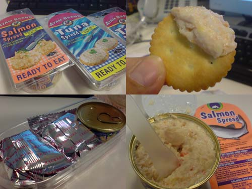 Ayam Brand Salmon and Tuna Spread, Snacky Pack