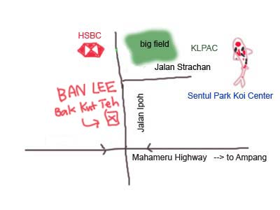 Map to Ban Lee Bak Kut Teh at Jalan Ipoh