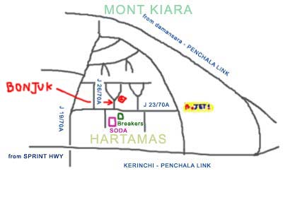 map to Bonjuk at Desa Sri Hartamas