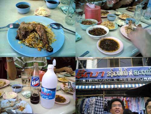 Nasi Briyani in Yangon, Myanmar