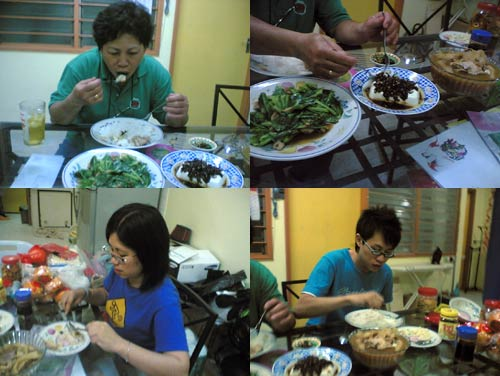 Chinese New Year 2006 dinner, members of family