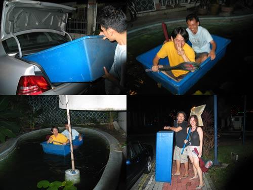 CNY chap gor meh stunt, fakeplan boat at taman jaya lake