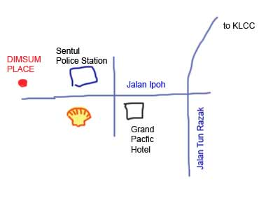 Map to Jalan Ipoh Dim Sum