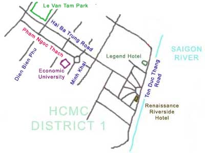 map of Hong Hai Restaurant at Ho Chi Minh City, Vietnam