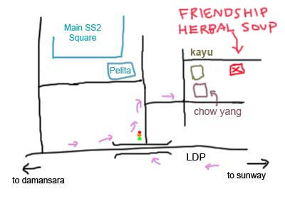 Friendship Herbal Soup Restaurant at SS2, map - 捕一宝