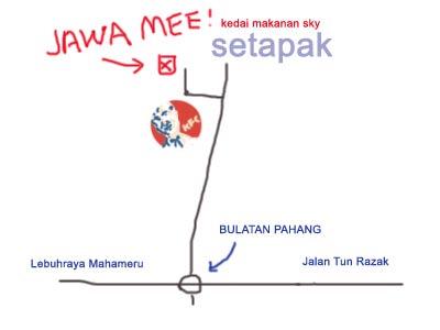 Map to Jawa Mee at Setapak