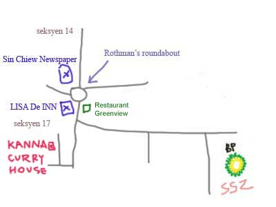 map to seksyen 17, petaling Jaya, Kannan Curry House