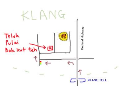 map to Klang Teluk Pulai Bak Kut Teh