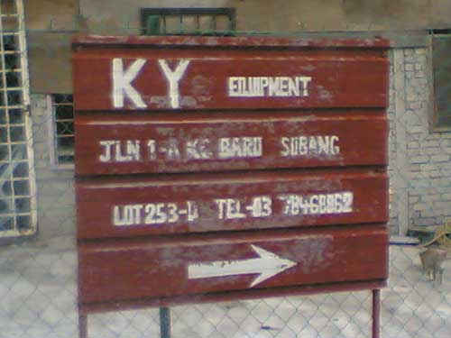 KY equipment at Sungai Buloh