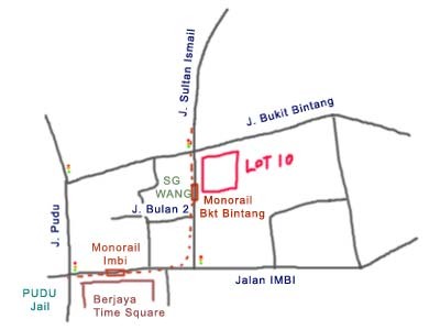 Map to Lot 10