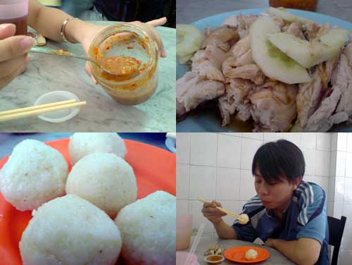 Chicken Rice Ball at Melaka, Chung Wah restaurant