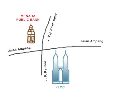 Map to Menara Public Bank