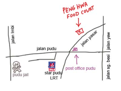 Map to Mini Laksa at Jalan Pasar