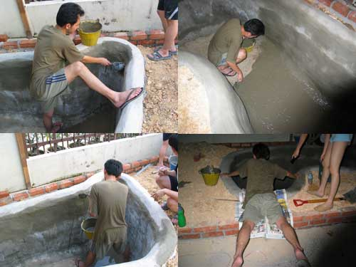 waterproofing for the cement koi pond