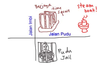 Map to Porridge Steamboat (粥底火锅)  at Jalan Pudu, Restaurant Farmland