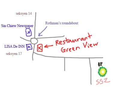 Map to Fresh Prawn Noodle at Restaurant Green View
