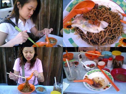 Pudu Old school noodle stall, Jalan brunei