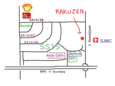 Rakuzen at Subang map