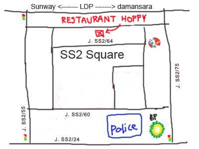 map to Herbal Roast Duck at Restaurant Hoppy (好比药材烧腊) at PJ SS2