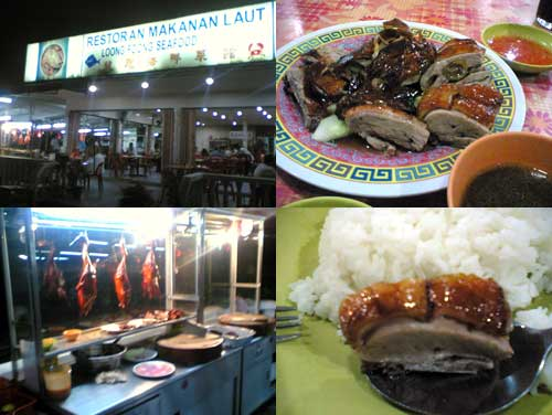 Roast Duck at Loong Foong Seafood Restaurant, Taman Paramount