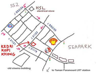 map to Seapark Kedai Kopi Khong