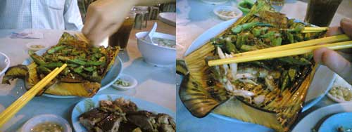 Stingray Ikan Bakar at Chow Yang, SS2