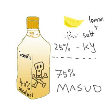 tequila - drawn by KY