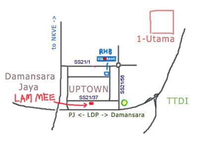 map to Lam Mee at Damansara Uptown