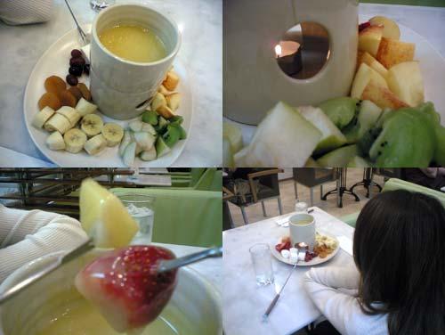 white chocolate fondue KLCC