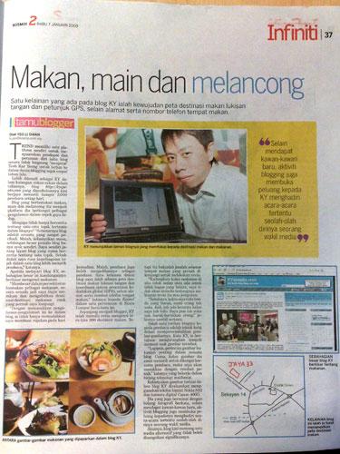 KY on Kosmo Newspaper
