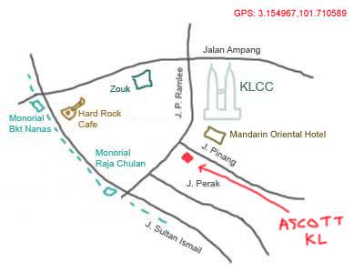 map to Ascott Kuala Lumpur