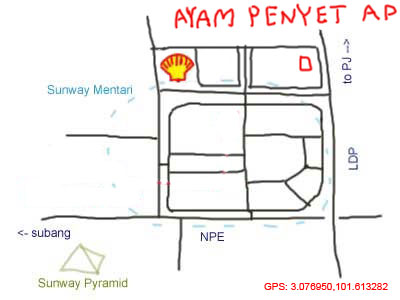 map to Sunway Mentari