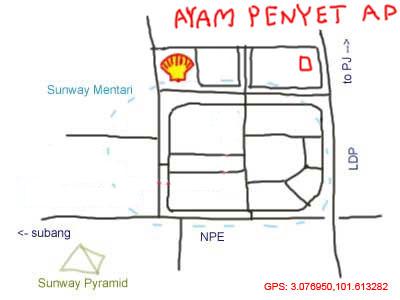 map to Sunway Mentari
