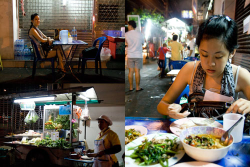 Dinner by the streets, Bangkok