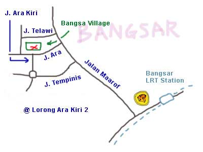 Map to Bangsar Village