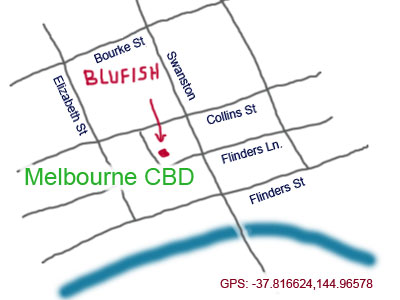 map to Centre Pl, Melbourne