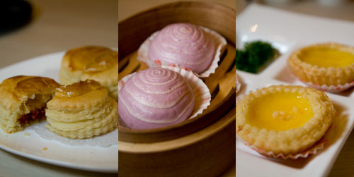 roasted bbq pastry, egg yolk in custard buns, egg tart