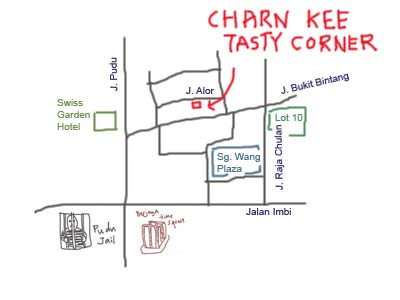 map to Jalan Alor, KL