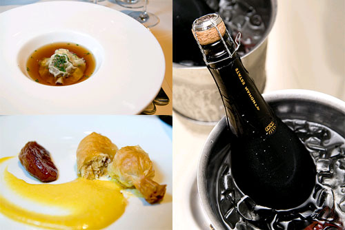foie gras bon bon, wild mushroom consomme, Friday wine lunch at Chinoz, KLCC
