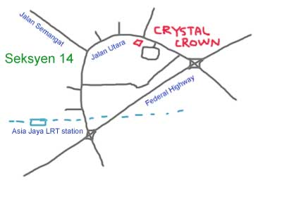 map to Crystal Crown Hotel