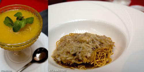 pomelo mango dessert, cirspy noodle, Dragon-i at KL Pavilion