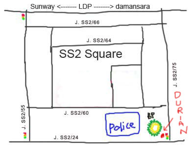 map to Durian at SS2