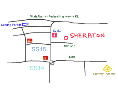 map to Sheraton Subang