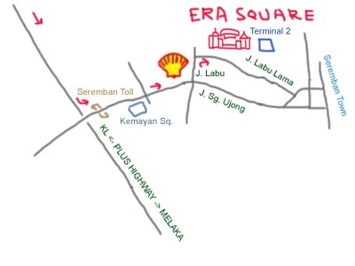 map to Era Square, Seremban