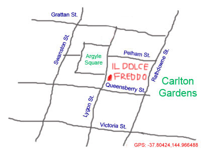 map to freddo at lygon street, melbourne