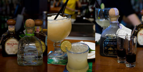 Don Julio and Patron tequila, margarita, XO cafe coffee liqueur