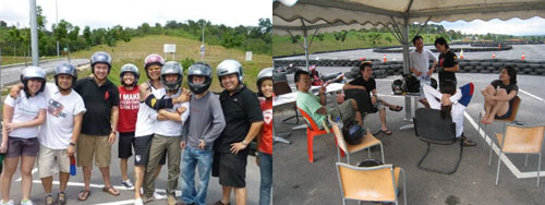 karting with the bunch of noobs
