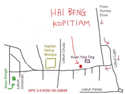 Hai Beng Kopitiam, map